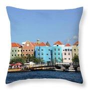 Colorful Curacao Throw Pillow