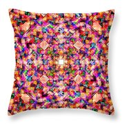 Colorful Digital Abstract Throw Pillow