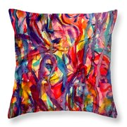 Colorful Expression-6 Throw Pillow