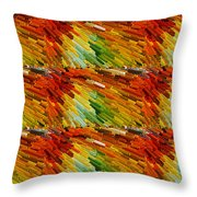 Colorful Extrude 2 Throw Pillow