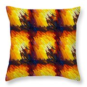 Colorful Extrude 4 Throw Pillow