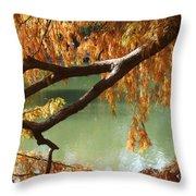 Colorful Fall Bald Cypress Throw Pillow