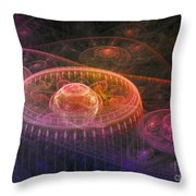Colorful Fantasy Landscape Throw Pillow