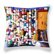 Colorful Floats Throw Pillow