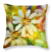 Colorful Floral Abstract II Throw Pillow