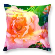 Pretty Pink Flowers Throw Pillow