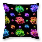 Colorful Flowers Duvet Throw Pillow