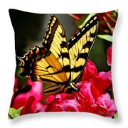 Colorful Flying Garden Throw Pillow