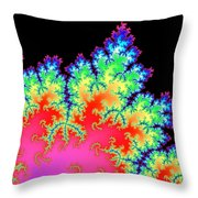 Colorful Fractal Artwork Throw Pillow