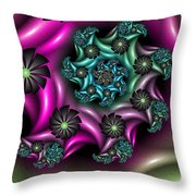 Colorful Fractal Throw Pillow
