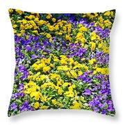 Colorful Garden Throw Pillow