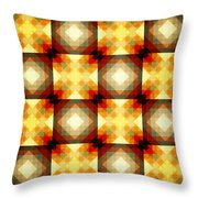 Colorful Geometric Collage Throw Pillow