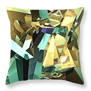 Colorful Geometric Shapes Throw Pillow