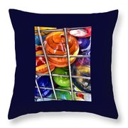 Colorful Glass Balls Throw Pillow