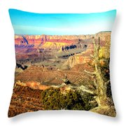 Colorful Grand Canyon Throw Pillow