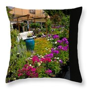 Colorful Greenhouse Throw Pillow