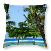 Colorful Greens And Blues Throw Pillow