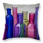 Colorful Group Of Bottles Throw Pillow