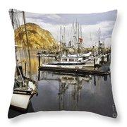 Colorful Harbor II Impasto Throw Pillow