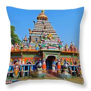 Colorful Hindu Temple Throw Pillow