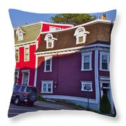 Colorful Homes In Saint John's-nl Throw Pillow