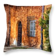 Colorful Houses In Warsaw Throw Pillow
