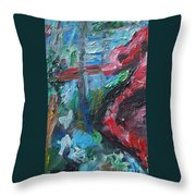 Colorful Impressionism Throw Pillow