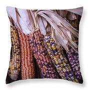 Colorful Indian Corn Throw Pillow