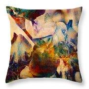 Colorful Iris Watercolor Throw Pillow