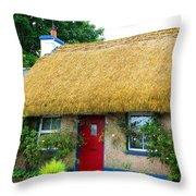 Colorful Irish Cottage Throw Pillow