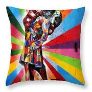 Colorful Kiss Throw Pillow