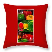 Colorful Kitchen Collage Throw Pillow