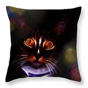 Colorful Kitty Throw Pillow