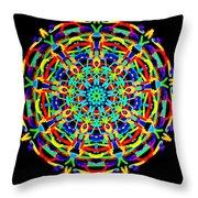 Colorful Kolide  Throw Pillow