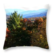 Colorful Layers Throw Pillow