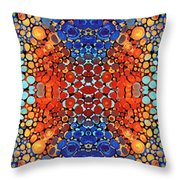 Colorful Layers Vertical - Abstract Art By Sharon Cummings Throw Pillow by Sharon Cummings