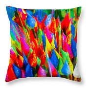 Colorful Leafs Throw Pillow