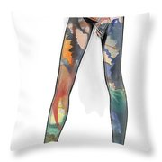 Colorful Legs Throw Pillow