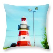 Colorful Lighthouse 2 Throw Pillow