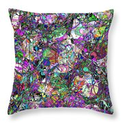 Colorful Lines Abstract Throw Pillow