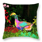Colorful Lucy Goosey Throw Pillow