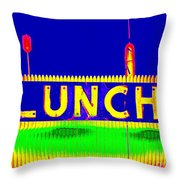 Colorful Lunch Throw Pillow