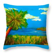 Colorful Marsh Throw Pillow