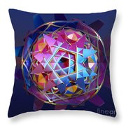 Colorful Metallic Orb Throw Pillow
