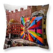Colorful Mural Chelsea New York City Throw Pillow