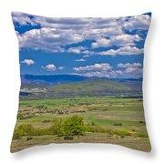 Colorful Nature Od Lika Region Throw Pillow