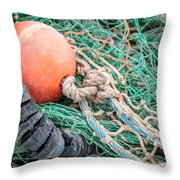 Colorful Nautical Rope Throw Pillow