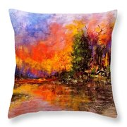 Colorful Night.. Throw Pillow