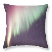 Colorful Nordic Winter Night Throw Pillow