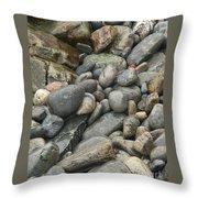 Colorful Ocean Rocks Throw Pillow